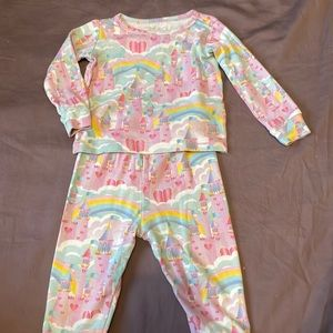 Infant Children's Place long sleeved top and leggings pyjama set, 6-9 months